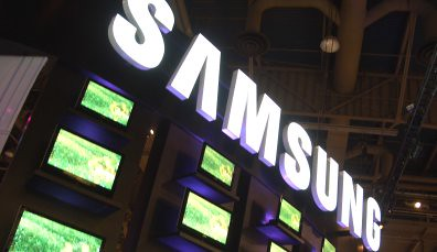 Samsung logo with LCD TVs