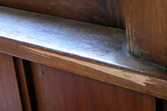 wood removed from moulding