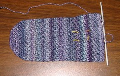 Crochet Sock in Progress