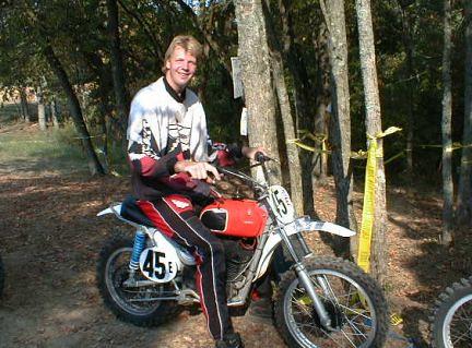 Rik on motor bike