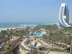 Wild Wadi and Jumeirah Beach Hotel... view from the 5th floor