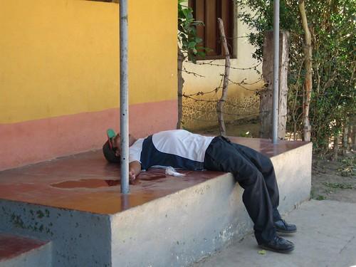 Trött Nicaraguan. Foto: Jonas Knutell
