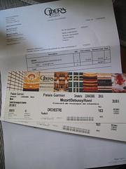 ticket d'opera