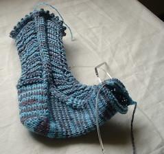 Petticoat sock progress, 4/26/06