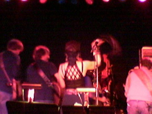 Amy Tan disciplining the band