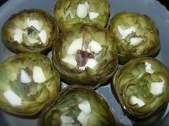 Carciofi ripieni di riso con vellutata alla menta piperita-5