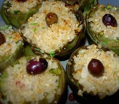 Carciofi ripieni di riso con vellutata alla menta piperita-9