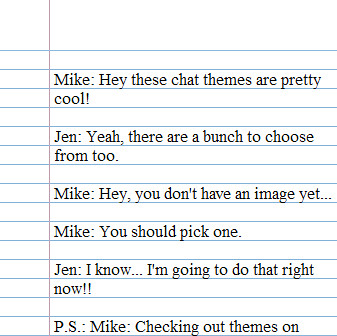 Google Talk Themes