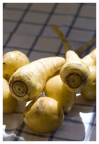 potatoes and parsnips
