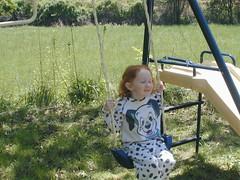 Eden likes her swing