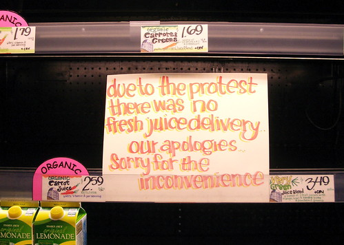 A Day Without Juice (and bread and produce and...)