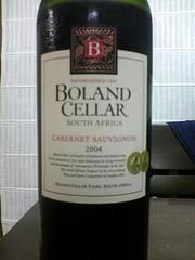 BOLAND CELLAR CABERRNET SAUVIGNON 2004