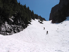 Craig And Randy Ascending Gully Dividing North And South Baring Peaks