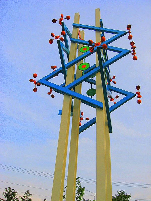 The sculpture again