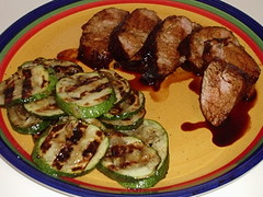 Spiced Pork Tenderloin w/Grilled Zucchini