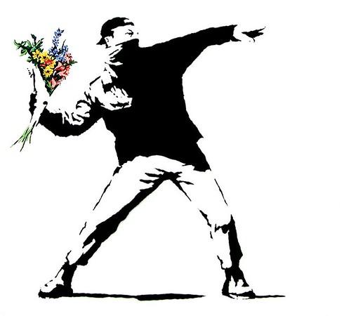 silueta home amb flors