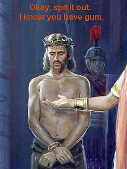 jesus has gum