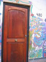 The door to Sagrada Familia