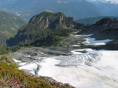 Crevased Glacier On Northwestern Slopes Of White Chuck Mtn
