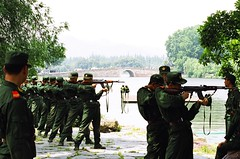 Troops at West Lake