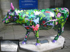 No 49 Rainforest Cow at Edinburgh Cow Parade 2006