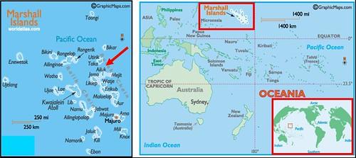 Mapa das Marshall - Ailuk em destaque