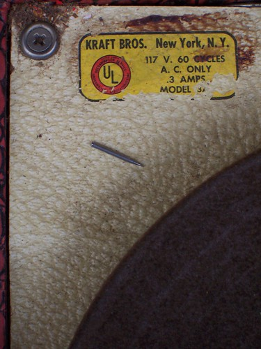 Detail of Kraftone Phonograph Player