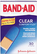 band aid comfort flex clear