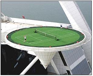 Burj al Arab Hotel - Helipad - Tennis 2