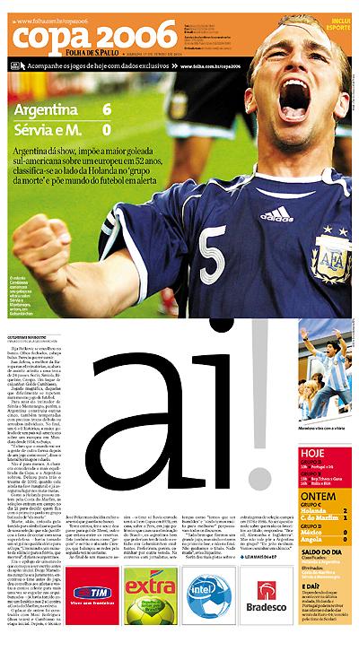 argentina 6x0 esporte