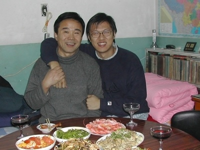 Li Qingtao and his father (Spring Festival 2004)