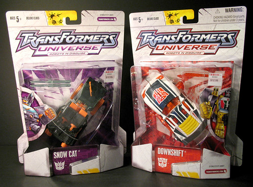 Transformers Universe Snowcat and Downshift (Kay-Bee Exclusives)