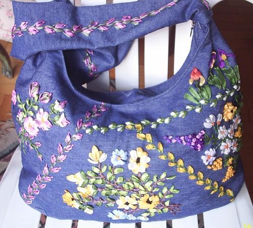 kurdele işli çanta