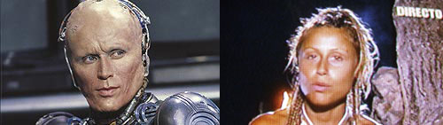 Parecido razonable de Verónica Romero y Robocop Murphy