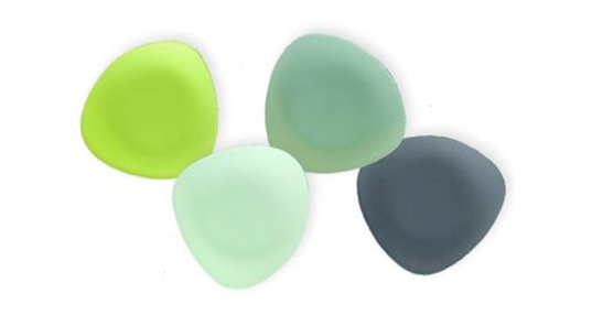 Seaglass Collection Plates, Recycled Glass, Green design, Riverside Design Group