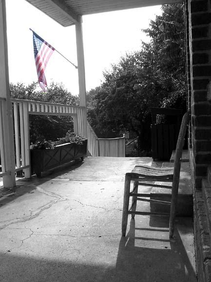 flag porch