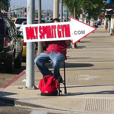 Holy Spirit Gym Sign Guy