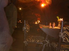 It's a restaurant, no it's a cave