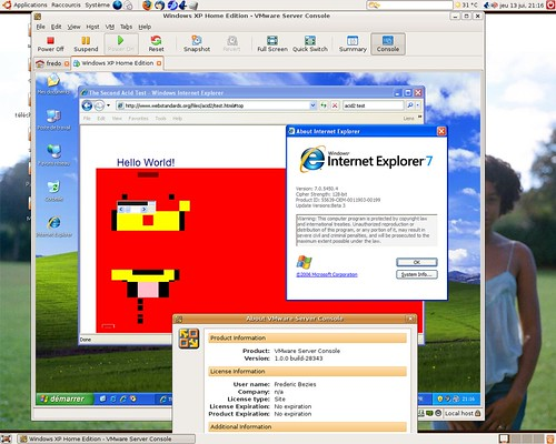 Windows XP émulé dans un VMWare Server