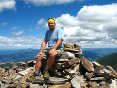Tanner at tha summit of 7,308' Abercrombie Mountain.