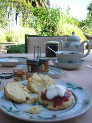 chá e scones