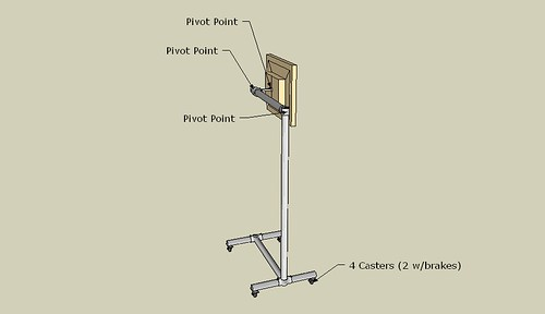 monitor bed-stand with pointers