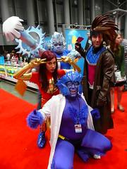 Iceman, Dark Phoenix, Gambit, and Beast photo by gluetree
