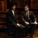 Nicholas Cimino (Danny Saunders) and Jürgen Hooper (Young Reuven Malter) in THE CHOSEN at Writers Theatre. Photo by Michael Brosilow.