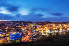 lights of downtown St. John's, Newfoundland photo by tuanland