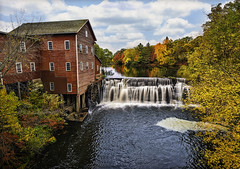wisconsin fall colors - dells mill photo by Dan Anderson.