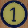 Colour Bingo yellow number 1