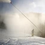 1/5/17 Snowmaking blasts on resurfacing existing terrain and new trails coming soon too.