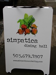 Simpatica Dining Hall sign