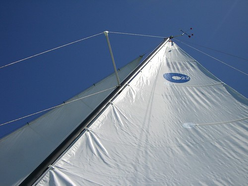 new main sail in action